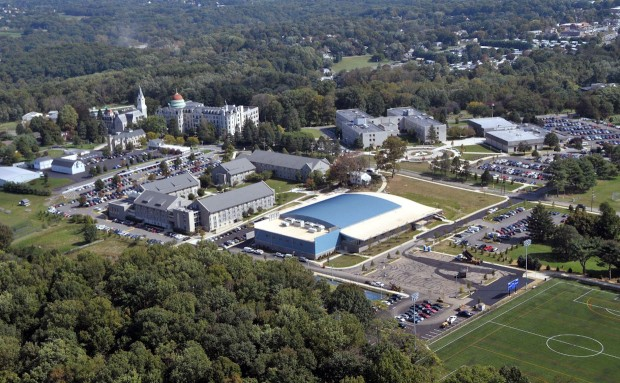 aerial view of Neumann University